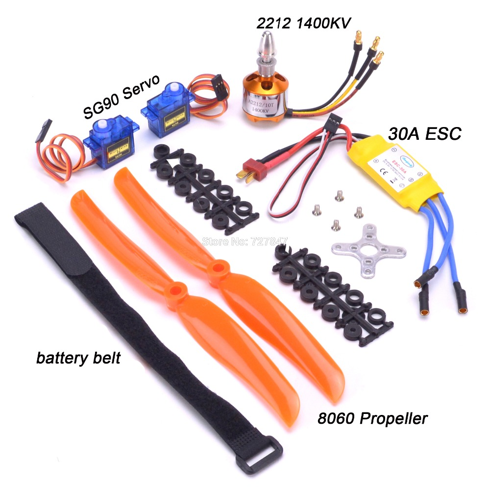 A2212 2212 1400KV безщеточный 30A ESC двигателя SG90 9G микро серво