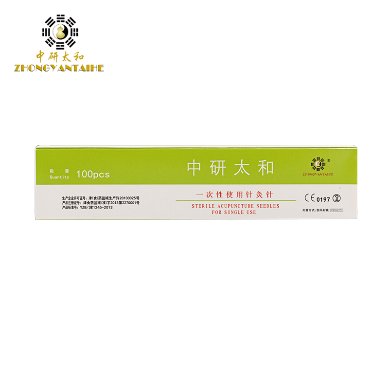 100pcs / box Zhongyan Taihe Needle Acupuncture Needle Disposable massage jarum jarum jarum panjang