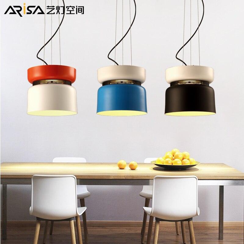 LED Nordic modern Iron living room lamps Designer Hanging lights Restaurant Lighting Fixture Novelty Bar Cafe Pendant Lights