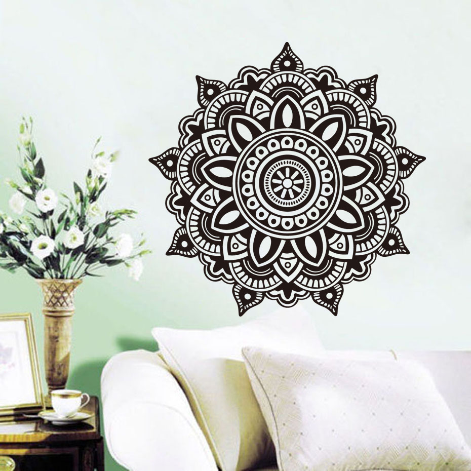 popular indian furniturebuy cheap indian furniture lots from  - dctop indian mandala pattern wall decals for living room removable vinylart sticker flower home decor