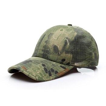 Tactical Baseball cap Mens camouflage camo snake Pythons grain cap outdoor hiking fishing Running Training quickly dry brand cap бейсболк мужские