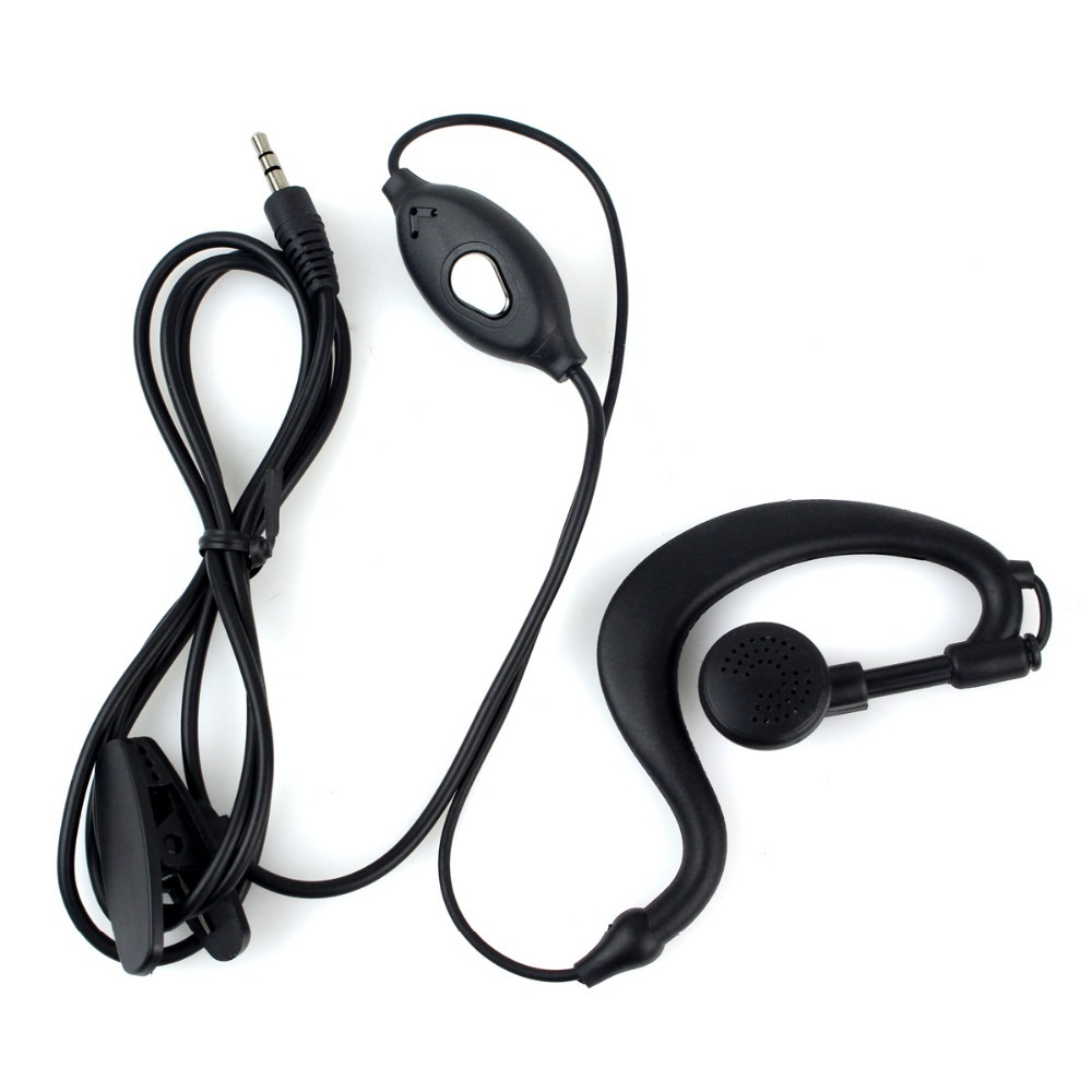 2 pcs 1 Pin Headset for Walkie Talkie 2.5mm Jack PTT MIC for Retevis RT388,RT628,RT31,RT32 Two Way cb Radio J9109A
