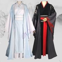 Dao Mo To Shi Wei Wuxian Cosplay Costume Anime Grandmaster of Demonic Cultivation Cosplay Lan Wangji Mo Dao Zu Shi Hanfu Men