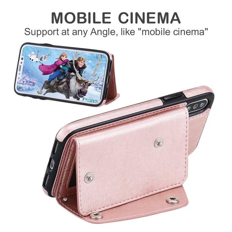 Nouveau Portefeuille Flip PU En Cuir bande protecteur Cas pour apple iPhone x 10 5 8 6 6 S 7 Plus ID Poche mobile téléphone ensemble d'accessoires