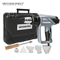 Workpro 220 v pistola de calor 2000 w casa elétrica pistola de ar quente termorregulador armas de calor digital display lcd