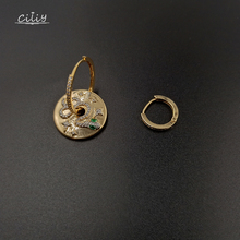 Ciliy New Earings Fashion Jewelry Trendy Snake-Shaped Circle Earring Asymmetrical Micro-Inlaid Zircon Casual F8320ODN