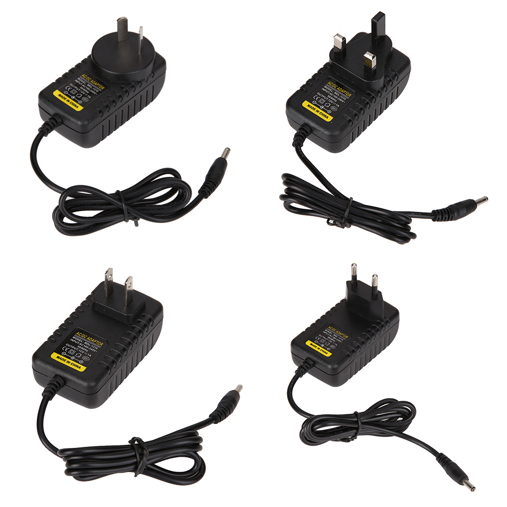 1pc AC To DC 3.5mmx1.35mm 12V 1A Switching Power Supply Adapter EU US AU Plug Standard