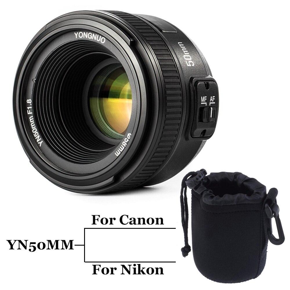 INSEESI YONGNUO YN50MM F/1.8 Large Aperture Auto Focus Lens yn50mm AF/MF Lense for Canon EOS Or Nikon DSLR Camera 50mm f1.8 lens