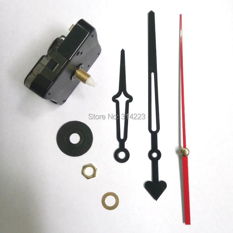 Velkoobchod 10set New Quartz Clock Movement for Clock Mechanism Repair DIY hodiny díly příslušenství hřídel 16.5mm JX026