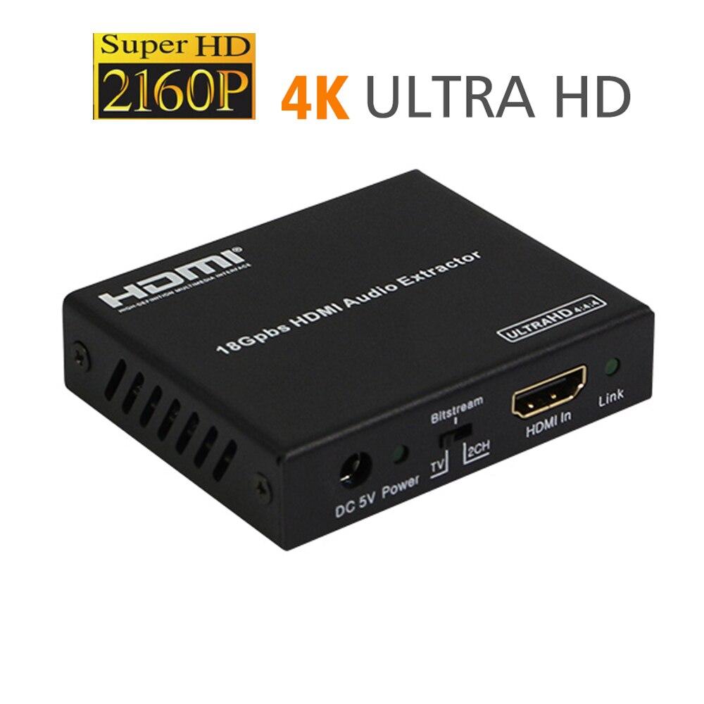 4k HDMI 2.0 HDMI audio extracteur SPdif UHD optique numérique analogique séparateur 5.1CH YUV 444 De-Embedder convertisseur HDCP 2.2 HDR
