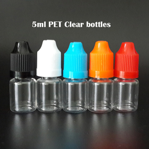 Image 3 - 100 Stuks Lege E Vloeibare Flessen 3Ml 5Ml 10Ml 15Ml 20Ml 30Ml 50Ml huisdier Plastic Druppelflesje Met Kind Proof Caps Voor Nail Gel