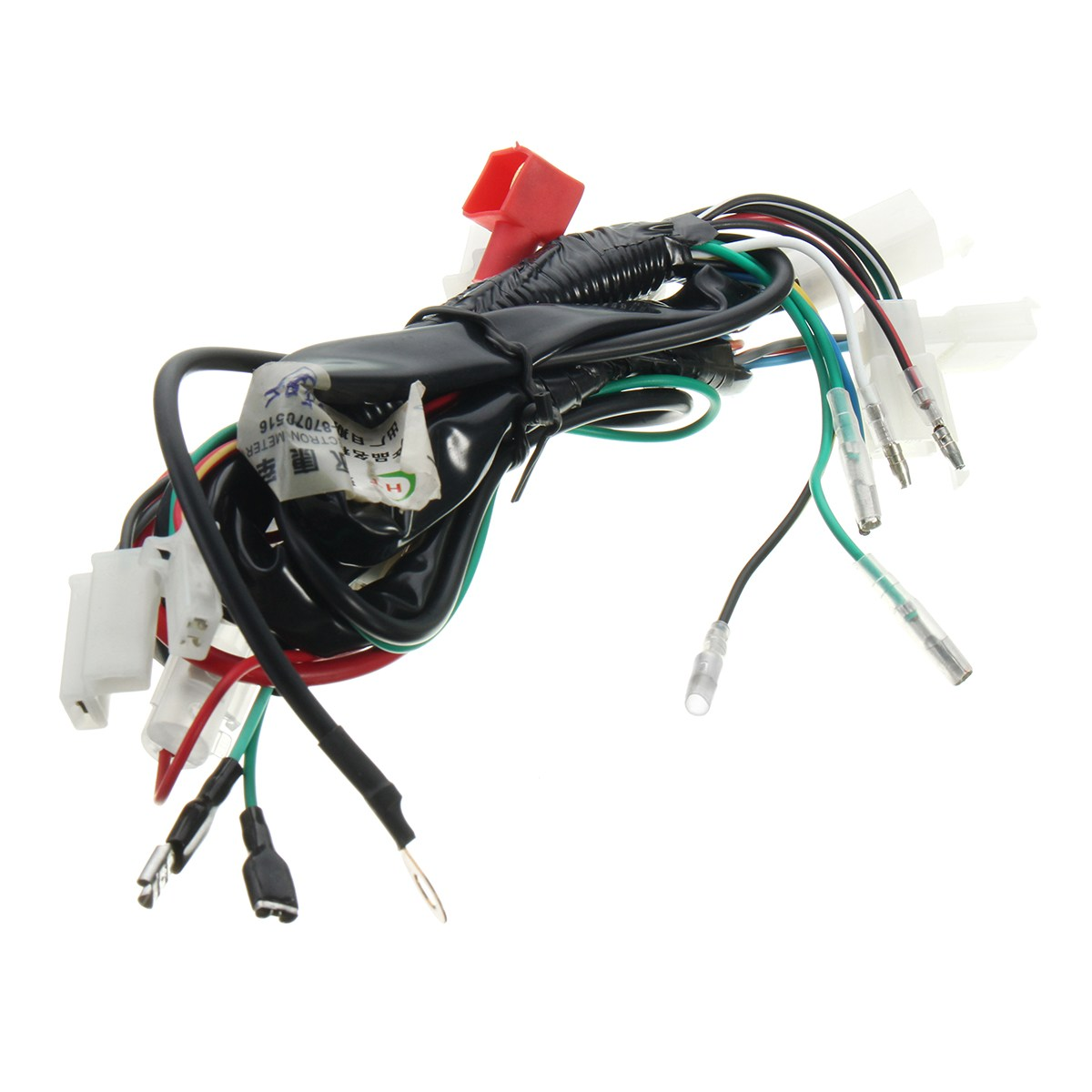 medium resolution of motorcycle wiring harness machine electric start wiring loom harness pit bike atv quads 50cc 70cc 90cc 110cc 125cc in motorbike ingition from automobiles