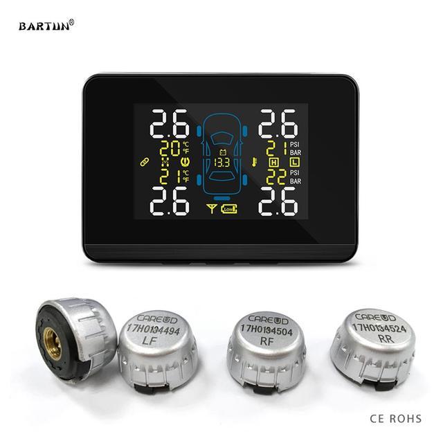 U906C Car Tire Pressure Monitoring System TPMS Tyre Pressure Sensor Auto Inspection Device LCD Display Dual USB Charging Port 1