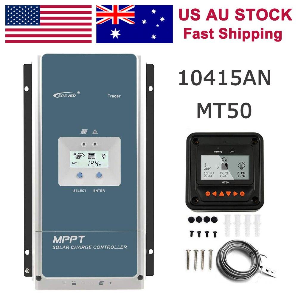 EPEVER 100A MPPT contrôleur de Charge solaire 48V 36V 24V 12V rétro-éclairage LCD PV 150V panneau solaire régulateur d'entrée traceur 10415AN