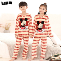Top Quality Flannel Warm Baby Boys Girls Pajama Sets Long Sleeve Kids Sleepwear Pajamas And Pants