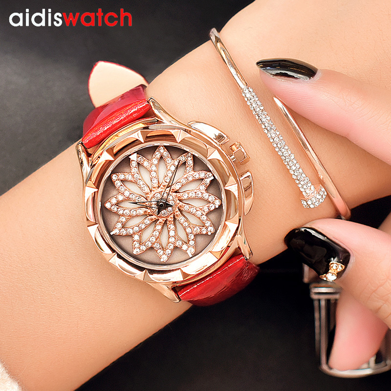 2018 Quartz Watch Women Watches Ladies Brand Luxury Crystal Reloje Mujer Famous Leather Bracelet Wristwatches For Female Clock sanda hot famous brand watch women leather wristwatches women s dress watches casual quartz watch luxury wristwatch 5 colors