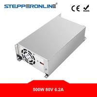 500W 80V 6.2A 115/230V Switching Power Supply Stepper Motor for CNC Router Kits