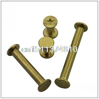 20 pieces Metric 5*80 mm Plated brass photo album screw snap rivet books screw