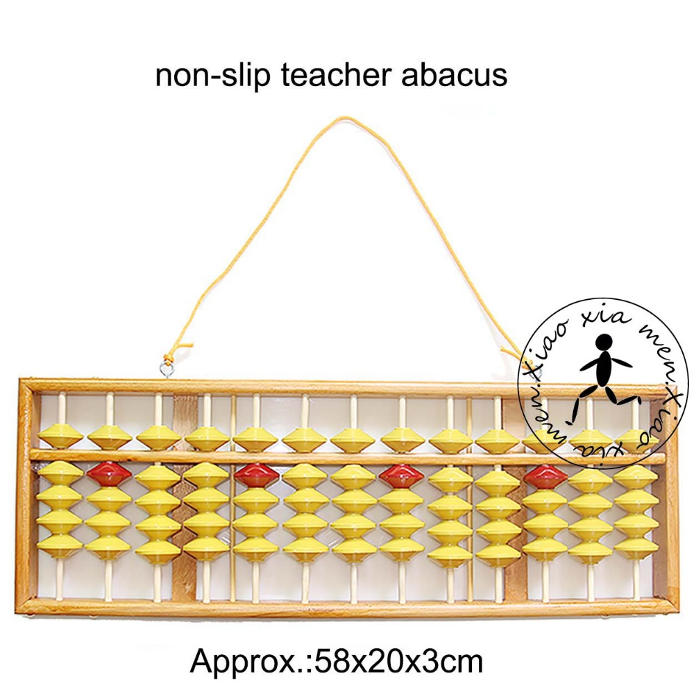 high quality 13 column wood hanger big size NON-SLIP  Abacus Chinese soroban Tool In Mathematics Education  for teacher XMF018 13 column abacus soroban japanese abacus wooden frame and beads wooden abacus chinese calculator with beautiful box