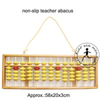 High Quality 13 Column Wood Hanger Abacus Chinese Soroban Tool In Mathematics Education For Teacher XMF018