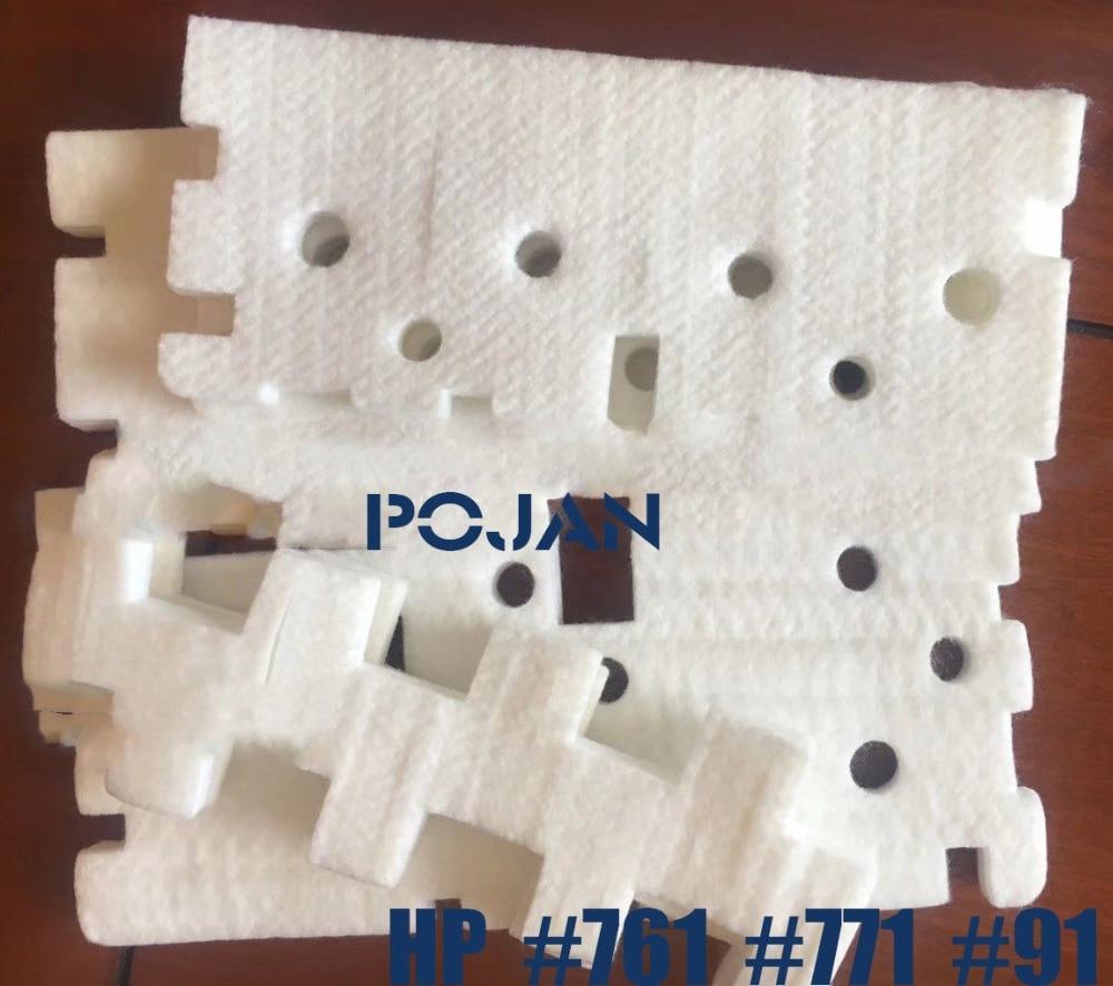 Sponge Fix 91 DesignJet 771 761 Maintenance Cartridge DesignJet Z6100 6200 T7100 D5800 Latex 260 Plotter Parts POJAN Store
