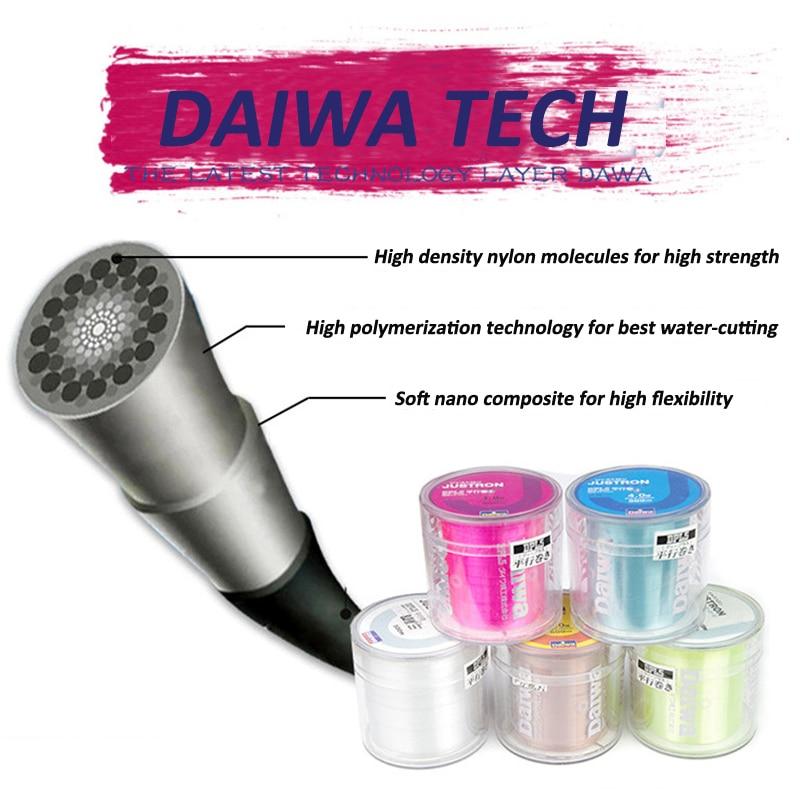 Купить с кэшбэком High Strength Japanese Brand 500M Nylon Fishing Line DAIWA JUSTRON Durable Monofilament Rock Sea Fishing Super Strong Carp