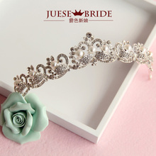 hot deal buy quality crown of the bride crown pearl alloy rhinestone marriage accessories wedding accessories