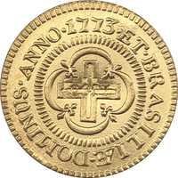 Copia de monedas 1773 Brasil 2000 Reis