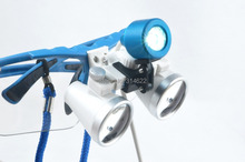 3.5X420mm Lupa Lupa Quirúrgica Dental, Binocular Lupas Dentales Lupa con LED Cabeza de Luz de Lámpara Freeshipping