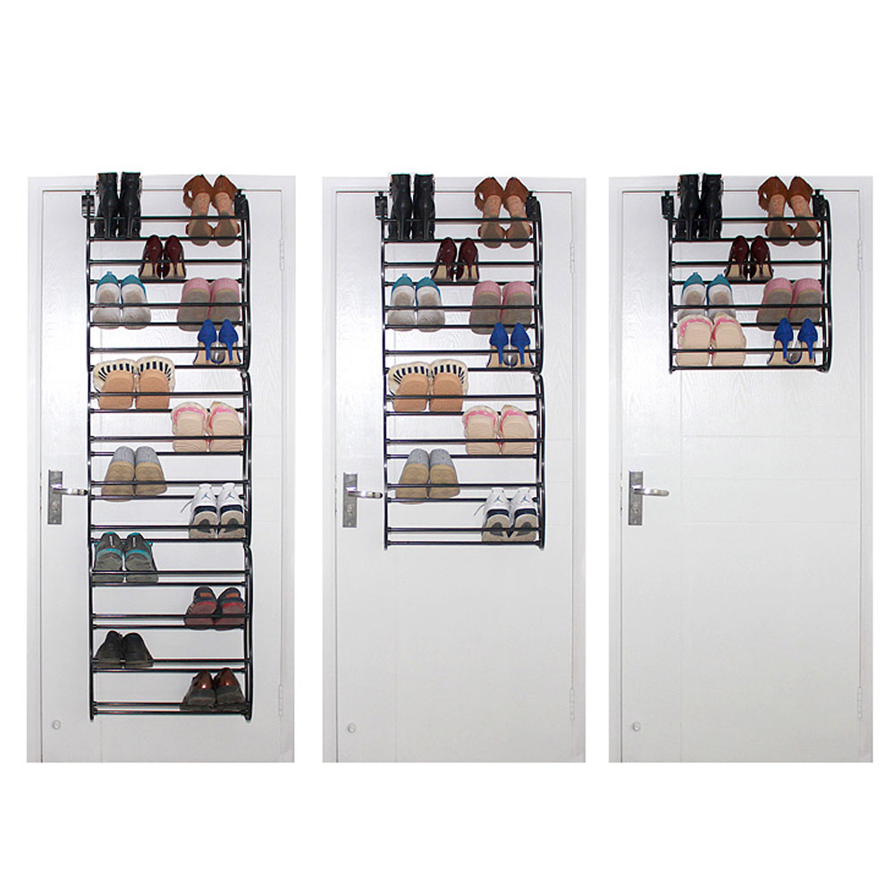 36 Pair 12 Tier Over Door Hanging Shoe Shelf Rack Holder Living Room Convenient Shoebox Storage Organiser Home Furniture Diy In Cabinets From
