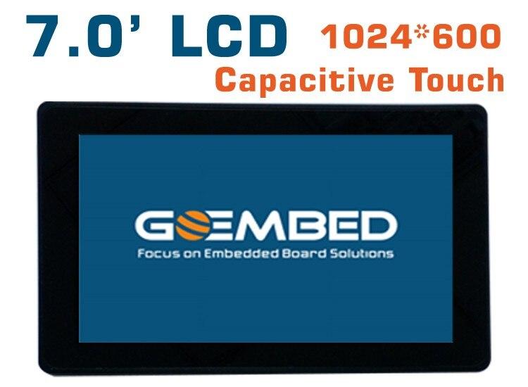 Panneau tactile capacitif d'affichage à cristaux liquides 1024*600 de 7 pouces am335x imx6 panneau SBC beagleboneblack