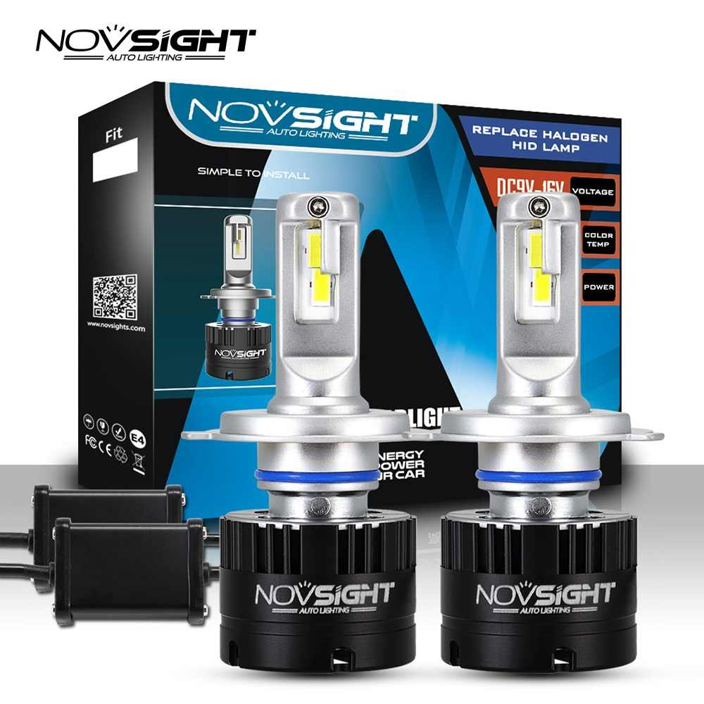 NOVSIGHT Super Bright Car Headlights H4 High Low Beam H7 Led HB3 hb4 h8 h1 9006 9005 h11 led 80W 14400LM Auto Headlamp Bulbs