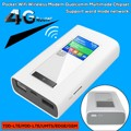 2PCS LTE GSM 4G Wifi Router Wireless Wifi Dongle with 5200mAh Power Bank 2 Sim slot