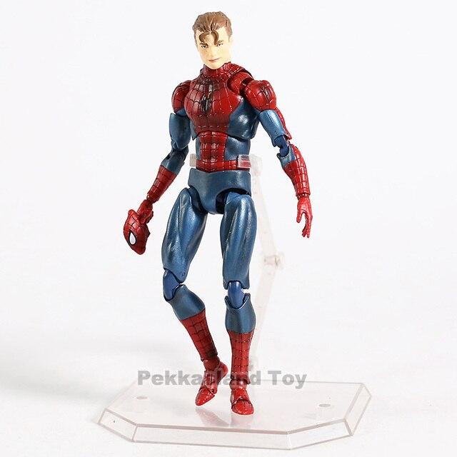 Marvel Mafex 075 vengadores Spiderman MAF075 el increíble Spider-Man PVC figura de acción coleccionable modelo niños juguetes regalo 4