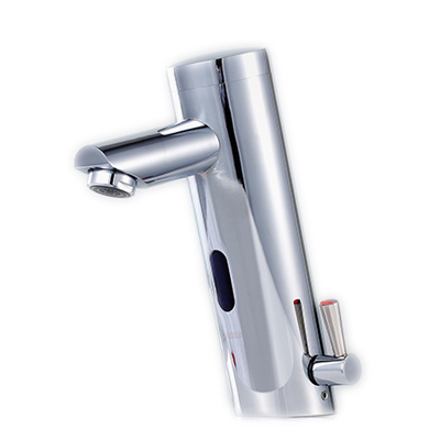 Free shipping Brass automatic faucet with deck mounted hot cold hotel bathroom sensor mixer tap,sensor basin faucet brass automatic sensor faucets cold and hot water mixer sense faucet basin hand washer deck mounted faucet