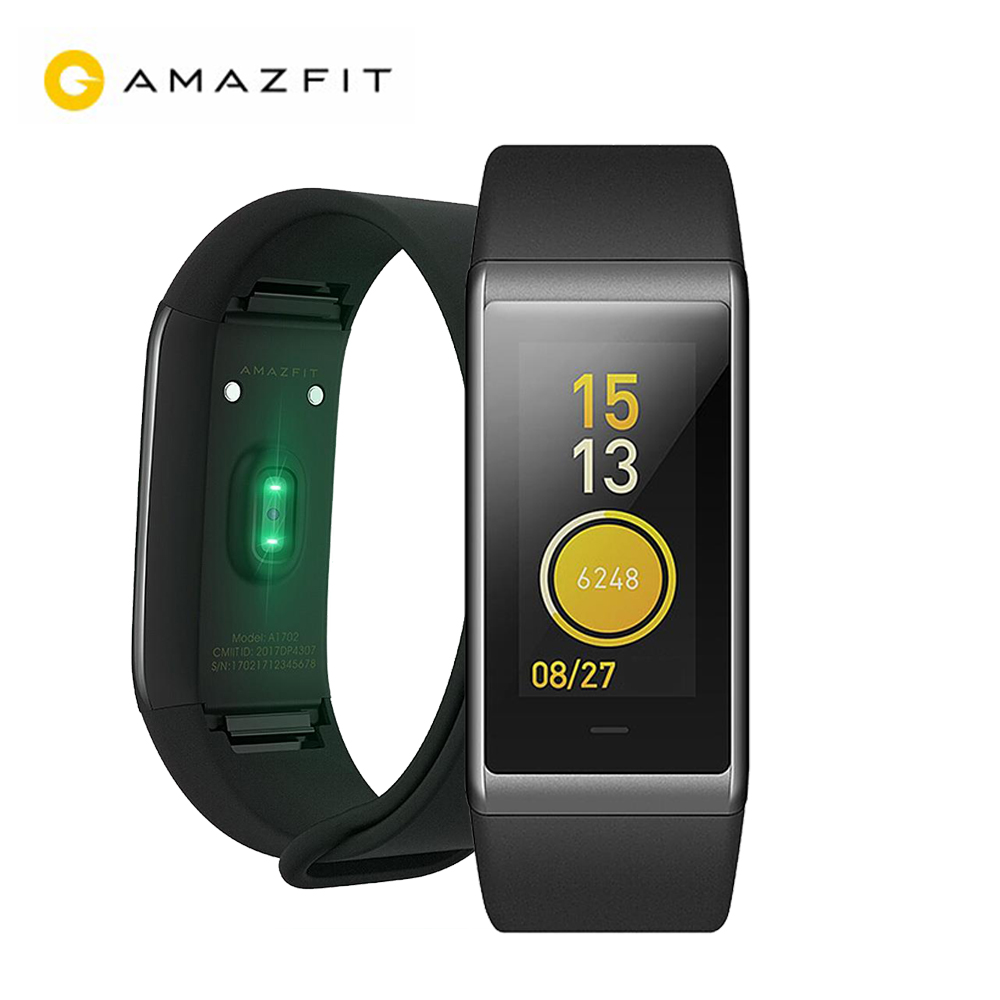 100% Original Xiaomi Huami Amazfit Cor MiDong Smart Bracelet 5ATM Waterproof 2.5D Color IPS Touch Screen 316L Stainless Steel
