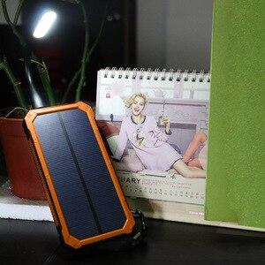 Image 5 - 15000 mah portátil banco de energia solar ao ar livre carregador de bateria externa para iphone samsung smartphone xiaomi acampamento ao ar livre