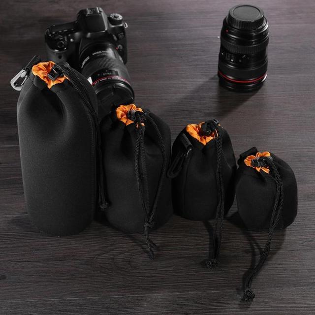 עמיד למים DSLR עדשת המצלמה פאוץ רך Neoprene מצלמה עדשת צמר תיק עדשות חבילה שרוך מגן מקרה עבור SLR מצלמה