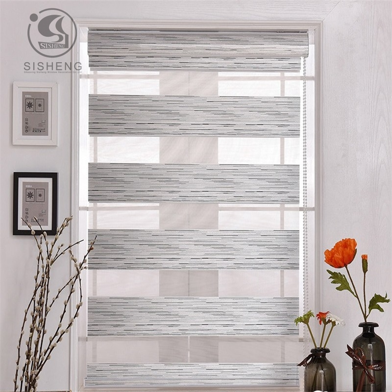 Dwelling Shading Distinctive Design Silver And Gold Coloration Printing Zebra Blinds