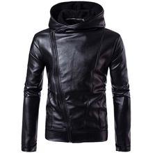 Мужская куртка с капюшоном Повседневная облегающая из искусственной