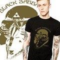 Топ Горячие Black Sabbath Мстители майка О-Образным Вырезом Мода Классический Металл Black Sabbath футболка Хлопок футболки