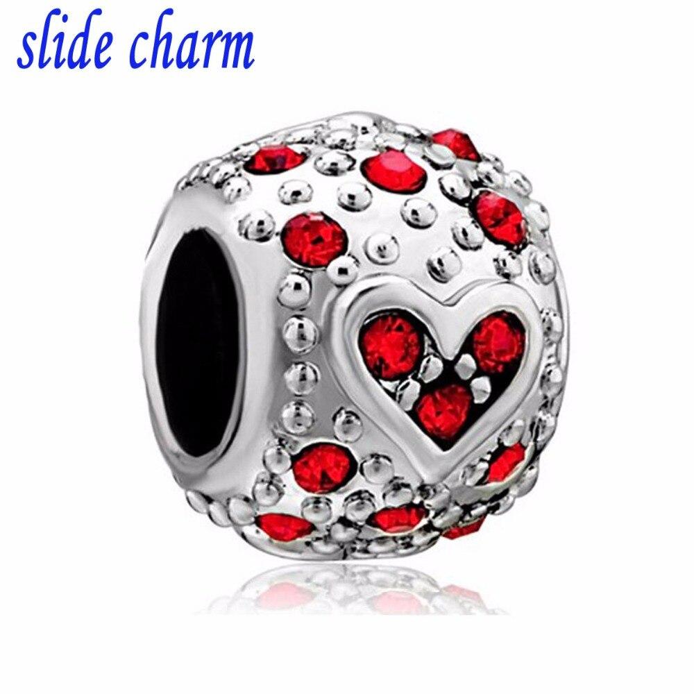 NºDeslice el encanto el envío libre pop rojo perlas encajar Pandora ...