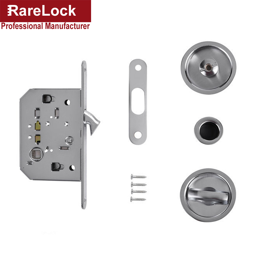 Rarelock Christmas Supplies Hidden Sliding Door Handle Lock For