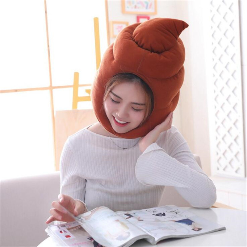 Anime Movie Hot Shit Excrement Hat Cosplay Costumes Props Accessories Plush Toy Doll Fancy Head Fancy Cap Take Photos Keep Warm