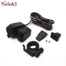 цена на Triclick 12V Waterproof Motorcycle Car USB Charger Cigarette Lighter Car Styling Power Charging Socket For Most Cell Phone GPS