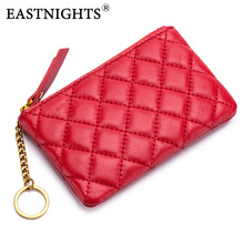 sheepskin genuine leather coin purse women fashion zipper mini rubber change money bag female credit card holder with key ring стоимость