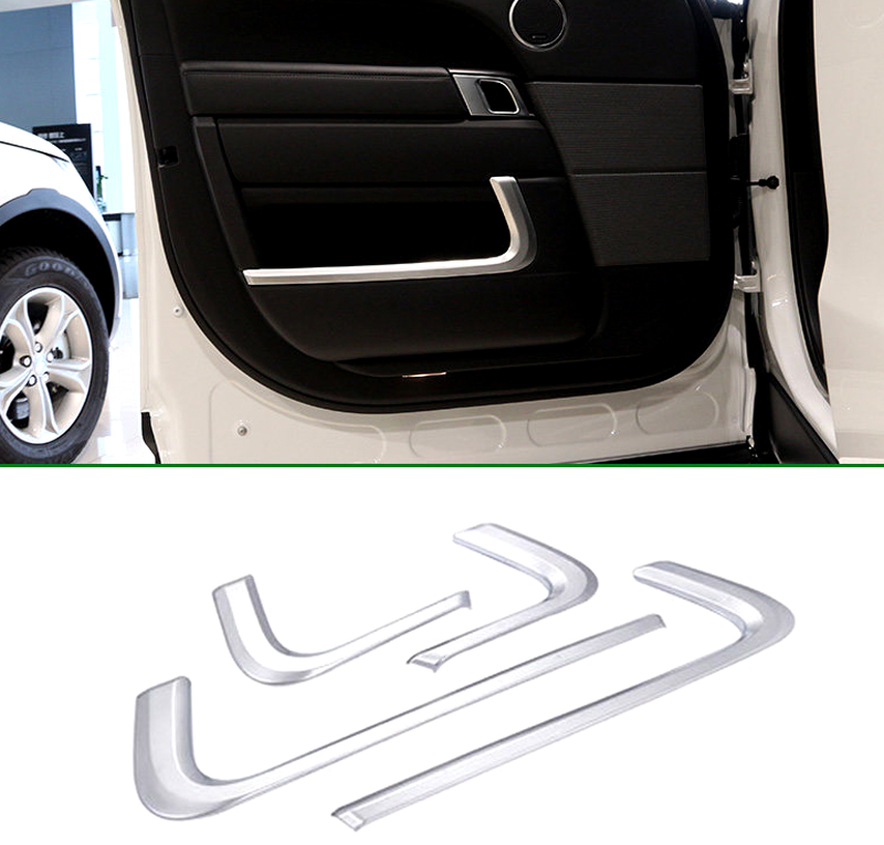14-16 For Land Rover Range Rover Sport 2014 2015 2016 Abs Inner Door Storage Box Decorative Trim Cover Car Sticker 4pcs 4pcs set car interior accessories side door molding trim for land rover range rover sport 2014 2015 2016 2017 styling abs chrome