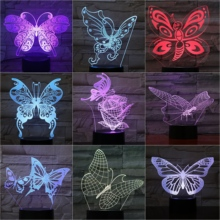 Butterfly Desk Lamp Bedside Usb Touch Sensor Rbg Animal Decorative Child Kids Gift Visual Led Night Light Decor