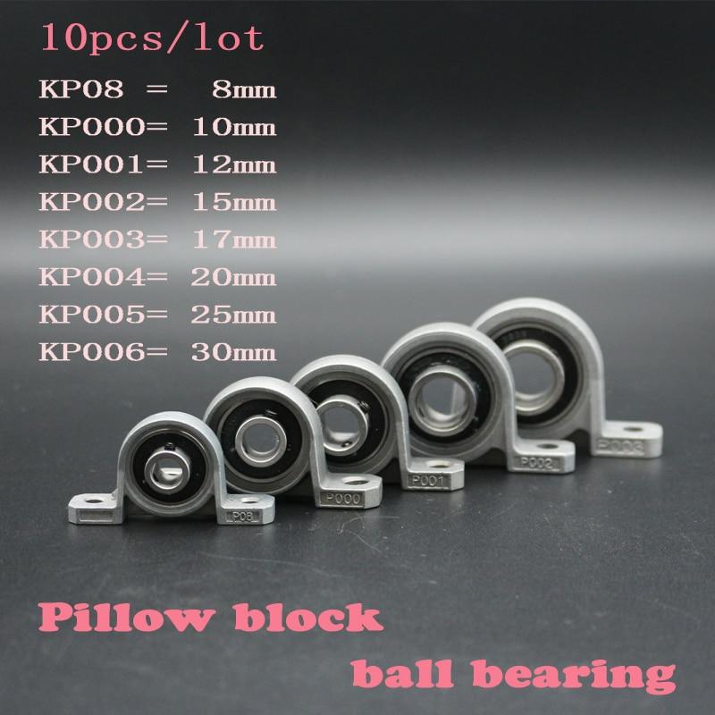 UP 004 20mm bore 2 PCS pillow block Zinc Alloy Cast Housing Self-aligning Pillow