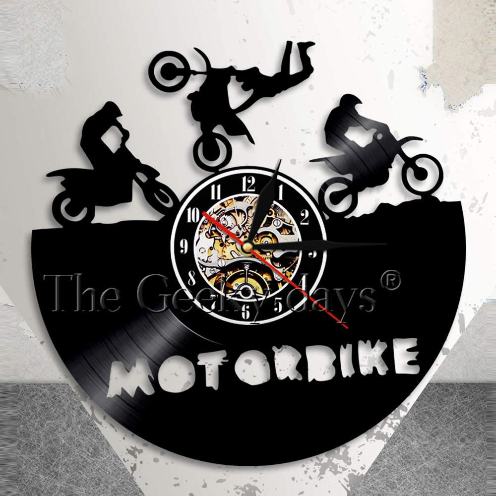 Motorbike Wall Clock Super Bike Sports Race Speed Motorcycle Riders Gift Vinyl Record Wall Clock Dirtbike Home Decor Riders Gift  sc 1 st  AliExpress & Motorbike Wall Clock Super Bike Sports Race Speed Motorcycle Riders ...